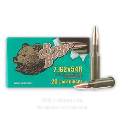Brown Bear 7.62x54r Ammo - 500 Rounds of 174 Grain FMJ Ammunition #762x54r #762x54rAmmo #BrownBear #BrownBearAmmo #BrownBear762x54r #FMJAmmo Brown Bear, Grains, Finding Yourself, Seeds, Korn