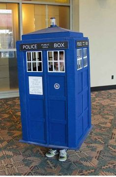 TARDIS   21 Perfect Halloween Costumes For Introverts--- haha I wouldn't consider myself an introvert but I hate explaining what I am for Halloween so this is awesome (I also love the description-if anyone tries to talk to you just transport yourself to another time and place XD)