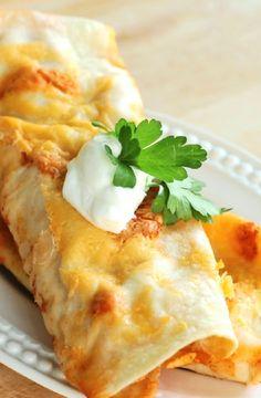 Low FODMAP Recipe and Gluten Free Recipe - Chicken enchiladas