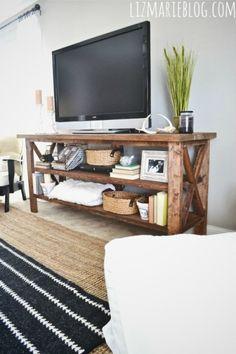 DIY rustic TV console