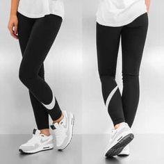 49984c35cd147f Nike  leggings  noir  blanc  pois Nike Leggings