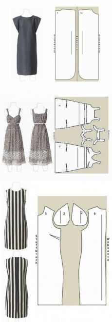 Knitting Patterns Wear ok. Sewing Patterns Free, Clothing Patterns, Dress Patterns, Knitting Patterns, Clothes Crafts, Sewing Clothes, Diy Vetement, Model Outfits, Fashion Sewing