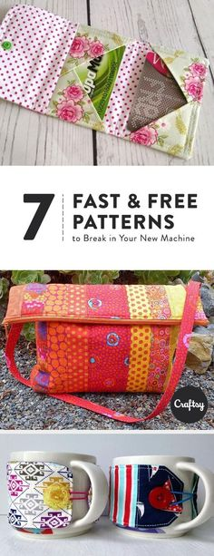 Looking for a fast new sewing project? Try one of these quick and easy sewing patterns. You'll have a new purse, wallet, or mug warmer in no time!