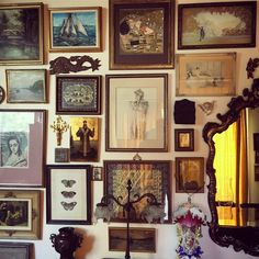 """413 Likes, 10 Comments - James Coviello (@james_coviello) on Instagram: """"Saturday morning at Mom's house  #gallerywall #eclectic #swissmom"""""""