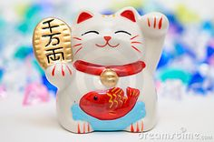 Japanese Lucky Cat Figurine