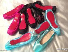 Custom Christian Louboutin ballet shoes made for Dita Von Teese.