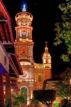 Iglesia de nuestra Señora de Guadalupe, Puerto Vallarta, Jalisco, México