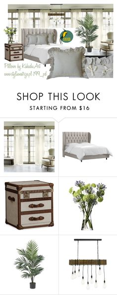 Styling Idea by kakaduart on Polyvore featuring interior, interiors, interior design, dom, home decor, interior decorating, Thos. Baker, Nearly Natural and LSA International