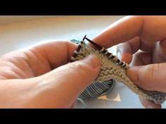 Instruktionsvideo der viser, hvordan du strikker baglæns.