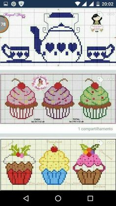 This post was discovered by Filiz Coşkun. Discover (and save!) your own Posts on Unirazi. Cupcake Cross Stitch, Cactus Cross Stitch, Cross Stitch Heart, Modern Cross Stitch, Cross Stitch Designs, Cross Stitch Patterns, Cross Stitching, Cross Stitch Embroidery, Stitch Cartoon