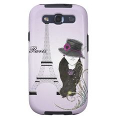A modern trendy design; Paris Eiffel Tower fashion lady in shades of purple. #paris #french #france #eiffel #tower #purple #fashion #lady #illustrations #phone #girly #picture #cases #iphone #covers