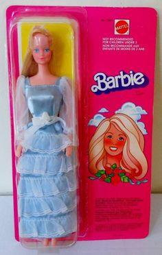 "Vintage 1980 Canadian/European Superstar Barbie #7382~In ""Lady In Blue""~NRFB"