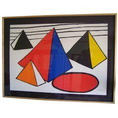 """Alexander Calder """"Quatro Pyramids""""  Serigraph"""