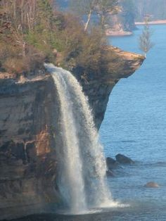 Spray Falls located in Pictured Rocks National Lakeshore,  Alger Co,  MI