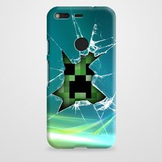 Minecraft Creeper Green Like A Boss case provides a protective yet stylish shield between your Google Pixel and accidental bumps, drops, and scratches. Features slim and lightweight profile, precise c