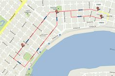 Krewe Du Vieux parade route, February 15 2014