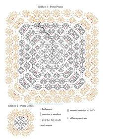 Granny square - Her Crochet Crochet Squares, Grannies Crochet, Crochet Square Blanket, Granny Square Crochet Pattern, Crochet Diagram, Crochet Stitches Patterns, Crochet Chart, Stitch Patterns, Crochet Mandala