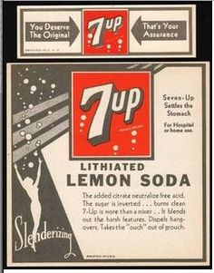 Old 7Up label.