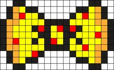 Pizza Bow Perler Bead Pattern / Bead Sprite