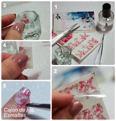 Uñas decoradas - Flores de cerezo   http://www.ladyqueen.com/12-floral-sheet-beautiful-peach-plum-blossom-transfer-print-sticker-nail-art-water-decals-na0810.html