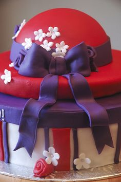 red hat society cake | Flickr - Photo Sharing!