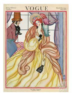Vintage Vogue Covers, Helen Dryden, March 1922 #VintageVogueCoversKisyovaLazarinova