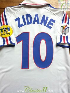 2000 01 France Away Football Shirt Zidane  10 (M) 81ce19d3f