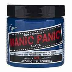 (3 Pack) MANIC PANIC Cream Formula Semi-Permanent Hair Color - Atomic Turquoise * For more information, visit image link.