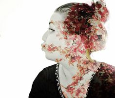 Double expo pic. Flowers in me. #flowers #doubleexposure