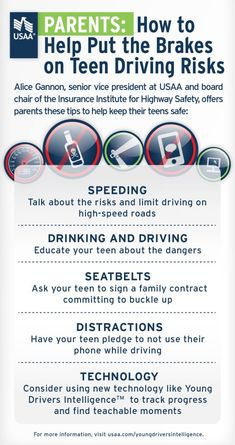 [How to Help Put the Brakes on Teen Driving Risks] #ChildSafety #TeenDrivers #HowTo