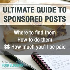Sponsored posts for bloggers! Learn where they are, how to apply, what to expect, and how much you'll make.