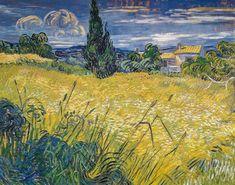 Vincent van Gogh (Dutch, 1853-1890), Green Field, 1889. Vincent van Gogh (1853-1890) Green Wheat Field with Cypress. SaintRémy,1889 Narodni Galerie (Prague, Czech Republic)