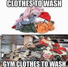 Martial arts humor and gym reality. Lots of laundry and lots of space needed for air drying my husband's Gi's