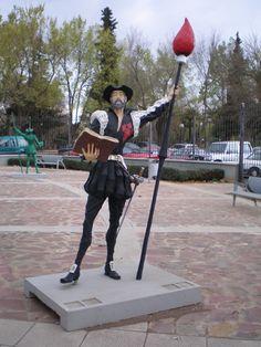 Don Quijote de la Mancha, estatua en Ciudad Real