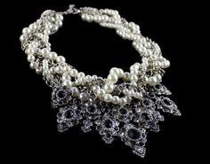 Duży Naszyjnik Perłowa Kolia #Baroque #Naszyjnik #Kolia  #Vintage #choker #necklace