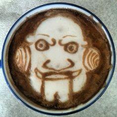 Horror Coffee Art: Jigsaw - http://www.dravenstales.ch/horror-coffee-art-jigsaw/