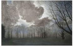 <i>15. Evening Sky</i> Pastel 40 x 60 ins, (101.60 x 152.40 cms)