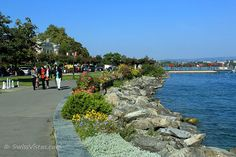 Morges in Western Switzerland is one of the prettiest lakeside cities on Lake Geneva. The 'City of Flowers' exudes and old world charm and nowhere are lazy summer days quite as relaxing as on the splendid lake promenade. Lazy Summer Days, Dream Trips, Journey, Lake Geneva, Zermatt, Old World Charm, Austria, Spaces, Holidays