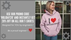 Use our Promo Code and instantly get off on all our t-shirts designed for engineers like YOU or for your friends who are engineers this holiday season! Be a proud engineer! Mechatronics Engineering, Control Engineering, Military Engineering, Petroleum Engineering, Environmental Engineering, Aerospace Engineering, Computer Engineering, Chemical Engineering, Electronic Engineering