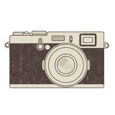 Free vintage clip art images: Retro photo camera clip art