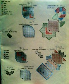 Holiday  kisses pattern plastic canvas