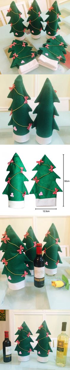 5pcs/set Christmas Table Decoration Red Wine Bottle Cover Bags Home Decors Navidad Santa Claus Christmas Decorations For Home $8.97