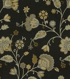 Waverly Upholstery Fabric-Tilly Trail/Onyx