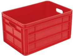 51L stackable heavy duty solid plastic container box for rent from USD 5 cents/crate/day!