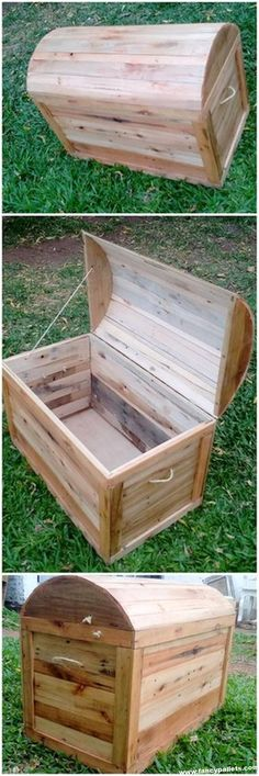 - Designs And Pictures of Pallet Wood Furniture Furniture Easy Wooden Pallets Chest Box - Pallet Furniture Plans, Pallet Furniture Designs, Furniture Projects, Garden Furniture, Furniture Buyers, Furniture Showroom, Furniture Websites, Apartment Furniture, Furniture Outlet