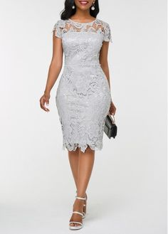 Dresses For Women African Lace Styles, Short African Dresses, Latest African Fashion Dresses, Women's Fashion Dresses, Lace Dress Styles, Lace Dress With Sleeves, Classy Dress, Elegant Dresses, Chiffon Cardigan