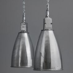 Vintage English rail works lights by 'Thorlux' salvaged from a decommissioned British Rail engineering workshop Buckinghamshire UK.