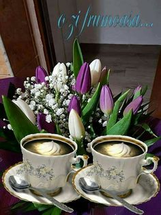 Romantic Couple Hug, Romantic Couples, Italian Greetings, Good Morning Flowers, Tea Cups, Coffee, Tableware, Awesome, 8 Martie