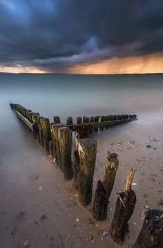 Autumn Storm on Lepe Beach ~ The Solent, Hampshire, England