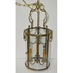 Image of 1940's Vintage Glass Cage Chandelier